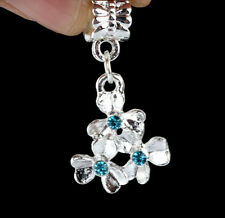 925 Silver three flowers Charm Beads Fit European Bracelet Necklace Chain A#51