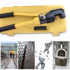 8 Ton Hydraulic Rebar Cutter Steel Bolt Chain Cutting Tool Allen Wrench With Box