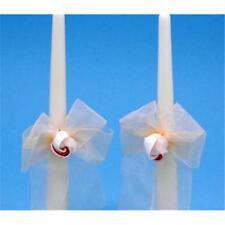 Bougies et bougeoirs ivoire pour le mariage