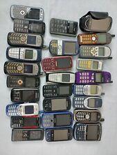 VINTAGE CELL PHONES LOT OF 37 UNTESTED BLACKBERRY NOKIA SAMSUNG LG ALCATEL +