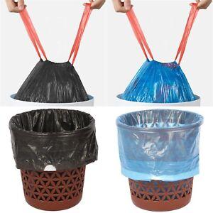 Drawstring Trash Bin Liner Bag. Strong Plastic Bags (100 Gauge / 25 Micron) 25 L