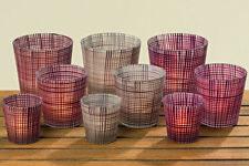 Windlicht Jena 3er-Set Glas lackiert Farbmix