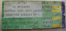 Zz Top Concert Ticket Stub Saratoga Perf. Arts Ny 6/7/1986