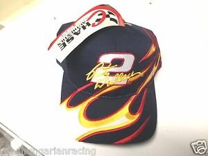 VINTAGE RUSTY WALLACE MILLER RACING FLAMES HAT CAP NWT  CHASE NASCAR SNAP BACK