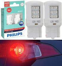 Philips Ultinon LED Light 7440 Red Two Bulbs Back Up Reverse Replace Plug Play