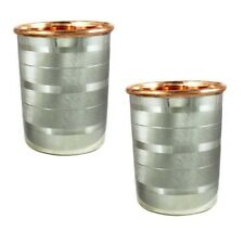 Pure Copper Steel Glass Set/For Health Benefits/ For Daily Use 00004000 /Free Shipping