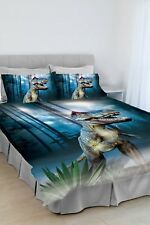 Jurassic Park T REX Dinosaur QUEEN Bed Quilt Doona Duvet Cover Set Xmas Gift
