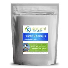 Vitamin B Complex Super Strength B1, B2, B5, B6, B12, Niacin, Folic Acid, Biotin