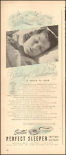 1948 Vintage ad for Serta's Perfect Sleeper`pretty Model Post WW (050618)
