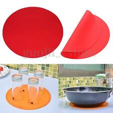 Round Non-stick Silicone Baking Mat Pan Sheet Cooking Pad Microwave Pastry Tray