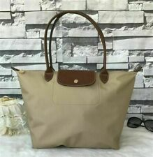 Auth New Longchamp New Le Pliage Nylon Tote 1899 Handbag Beige Large