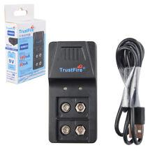 Trustfire 9VBC01 9V USB Cargador para recargable Lithium,Ni-MH batería