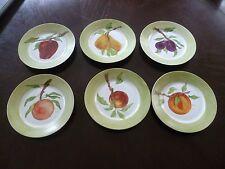 Vtg Bareuther Waldsassen Bavaria Germany Hand painted Fruit Signed Plates 162