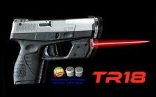 ArmaLAser TR18 Taurus PT709 / PT740 Slim RED Gun Laser Sight w/ Grip Activation