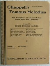 Chappells Famous Melodies For Saxophone or Clarinet Solos 1934