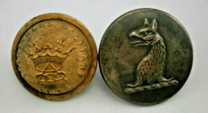 Antique Pitt & Co. Livery Brass Button & a Odd Fellows Fraternal Button