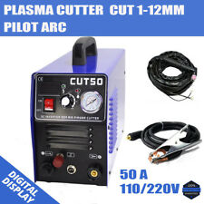 CUT50P Pilot Arc DC Inverter Plasma Cutter Machine Daul Voltage 110/220V 1-12MM