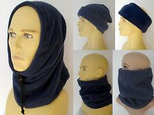 Dark Navy Blue SNOOD balaclava fleece Neck warmer scarf youth school mens ladies