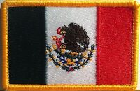 MEXICO FLAG Embroidered Iron-On PATCH MEXICAN EMBLEM NATIONAL LOGO