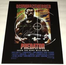SONNY LANDHAM & SHANE BLACK Signed PREDATOR 11x14 In Person Autograph