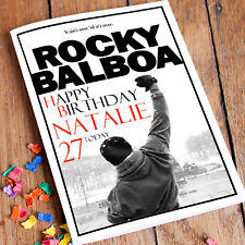 ROCKY BALBOA Stalone  Personalised Birthday Card! FAST 1st Class Shipping!