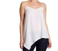 Laundry by Shelli Segal NEW White Womens Size 2Asymmetrical Cami Top