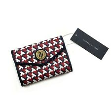 NWT Tommy Hilfiger Ladies' RWB Saffiano Leather Trifold Short Wallet Organizer