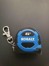 Kobalt Tape Measure Keychain 6FT Compact Measuring Tape Mini Travel Key Chain