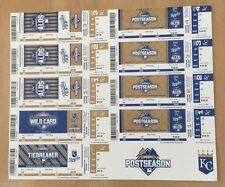 2015 MLB KANSAS CITY ROYALS POSTSEASON ALDS ALCS FULL BASEBALL TICKETS SHEET