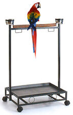 Large Wrought Iron Parrot Bird Play Perch Stand Play Gym Play Ground Roll Stand