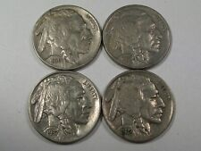 4 XF Buffalo Nickels: 1930, 1934, 1937, 1937-d. Full Horns.  #30