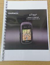 Garmin eTrex 10 20 30 Stampato completamente manuale di istruzioni guida utente 60 pagine a5