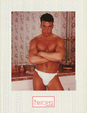 LOT OF 2 SMALL POSTERS :SEXY MALE MODEL - LEANING ON VANITY         RC39-S-L