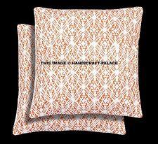 2 PC Cushion Cover Abstract Design Cotton Pillow Case Sofa Sham Indian Bohemian