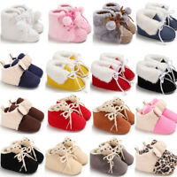 Baby Girls Boys Winter Warm Boots Newborn Toddler Infant Soft Sole Shoes 8382