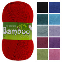 King Cole Bamboo Cotton 4 Ply 100g Yarn Wool Knitting 52% Cotton SALE RRP £6.20