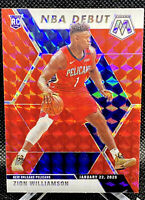 Zion Williamson 2019-20 Panini Mosaic Rookie NBA DEBUT RED MOSAIC Prizm RC