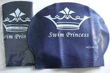 New in Bag AQUALIS Kids Junior PURPLE SWIM PRINCESS Latex Swim Cap - Swimming
