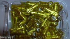 100 x NARVA 56145 FEMALE BLADE YELLOW SPADE CRIMP TERMINAL 6mm FULLY INSULATED