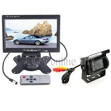 """12/24V Car Rear View Backup Camera Kit + 7"""" LCD Monitor for Car/Bus/Truck/VAN"""