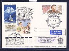 49496) AUA SF Weihnachten Wien - Salzburg 24.12.2010, stat.card Russland 3 R!