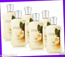 6 Bath & Body Works Signature Collection WHITE TEA & GINGER Body Lotion Cream