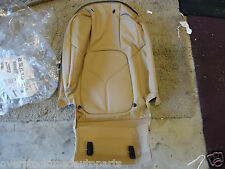 REAR TAN LEATHER SEAT BACKREST COVER HEATED OEM PORSCHE