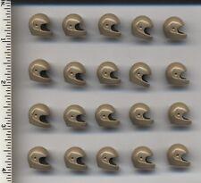 LEGO x 20 Dark Tan Minifig, Headgear Helmet Standard NEW space helmet