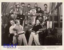 Alan Ladd barechested, Brian Donlevy VINTAGE Photo Two Years Before The Mast