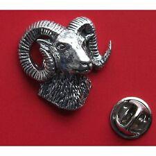 English Pewter GOAT, Mouflon  Pin Badge Tie Pin / Lapel Badge  (ref A52)