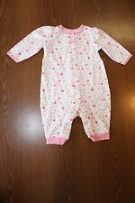 Okie Dokie Baby Girl's Long-Sleeved Outfit Sleeper Pink Green White