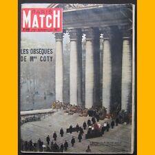 PARIS MATCH N° 346 LES OBSÈQUES DE MME COTY 1955