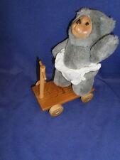 Vintage Mitzi Bear w/Scooter Robert Raikes Nursery Miniatures by Applause 1990
