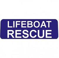 LIFEBOAT RESCUE BLUE with WHITE Text univisor Sign Sun visor